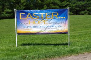 Easter Snowpole Banner